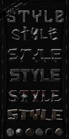 Metal Styles for Photoshop by DiZa-74