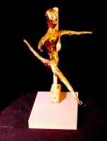 Dancing GoldLeafMale Sculpture by mertonparrish