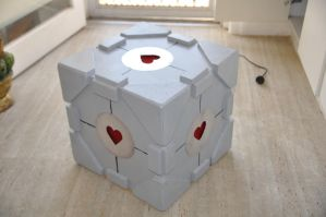 my companion cube lamp by twilight1236