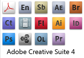 Adobe CS4 Official Icons by frankcupid