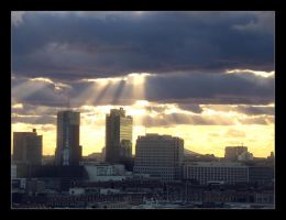 Sunrays over Berlin by RandomSearcher