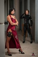 Ada Wong and Alice by fabiohazard