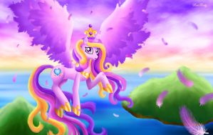 Princess Cadance - Top of Their World by Rose-Beuty