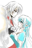 Sesshomaru and Mizu by Noopy10
