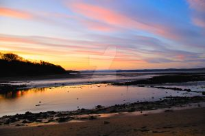 Sunset over the Firth of Forth, Edinburgh by Tinklepants