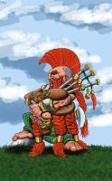 Dwarf bagpiper colour by ThaneBobo