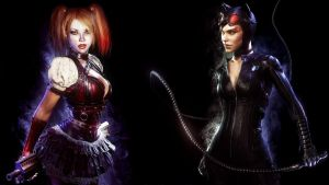 Catwoman and Harley Quinn - Arkham Knight 5 by solarnova1101