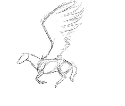 Rough draft movement sketch by TamHorse
