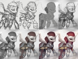 Pegasus Sanguine [WIP] by AssasinMonkey