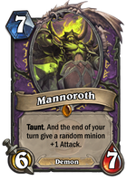 Mannoroth card concept (updated) by SnowingGnat