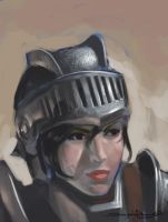 Knight Girl Portrait by DHTenshi