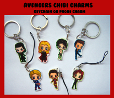 Avengers Keychains by IcyPanther1