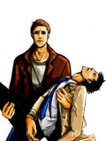 Dean and Cas by Dver
