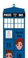The Doctor in the TARDIS by JaviDLuffy
