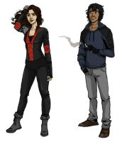 Ava and Diego outfit refs by LilyScribbles