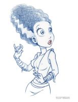 Bride of Frankenstein Sketch by ArtofLaurieB