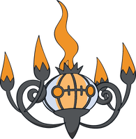 Shiny Chandelure: DW Art by Muums