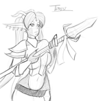 $5 Sketch: Tempest Fate by Vicious713