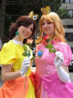 Peach and Daisy - In the Sun by Rayi-kun