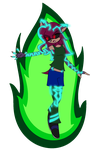 Corrupted Vanni - Green Flames by XvanniX
