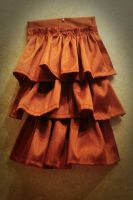 Copper Silk Ruffled Jabot by TheHauteDame
