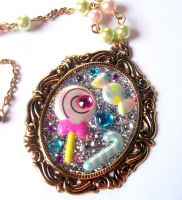 Candy Dandy Cameo Necklace by prheat