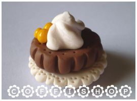 Whipped cream biscuit by coffishop