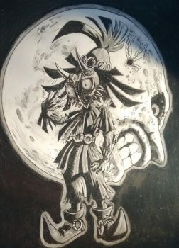 Skullkid and Moon by chuyares92