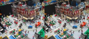 Stereograph - Lego Town by alanbecker