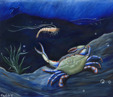Shrimp and Blue Crab -OilSpill by RJDaae