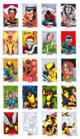 X-Men Arquives sketchcards by danielhdr