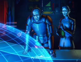 Commission - SWTOR - Rahm and Drikkah by KaraNan