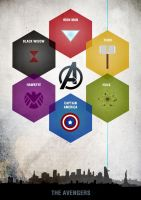 Avengers restyle Poster by sanjota