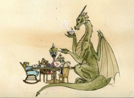 Tea Time by Kitty-Grimm
