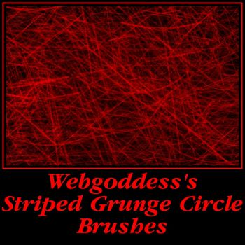 Striped Grunge Circle Brushes by webgoddess