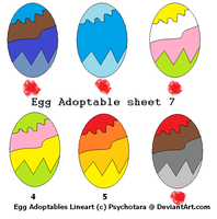 free Egg Adoptable sheet 7 only 1 open! by woofwoofsg1