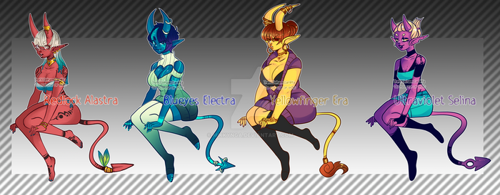Demon adoptable SOLD TY by Mikkynga