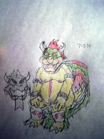The Koopa King on his throne by Vyel