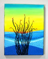 Ocotillo Abstract Landscape: Sunset, Blue Mtns by Eccentric-Indigo