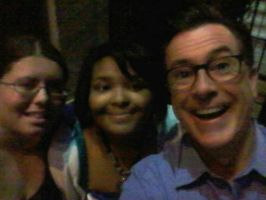 Me, My Pal and Stephen Colbert! by TheDailyProopKitten