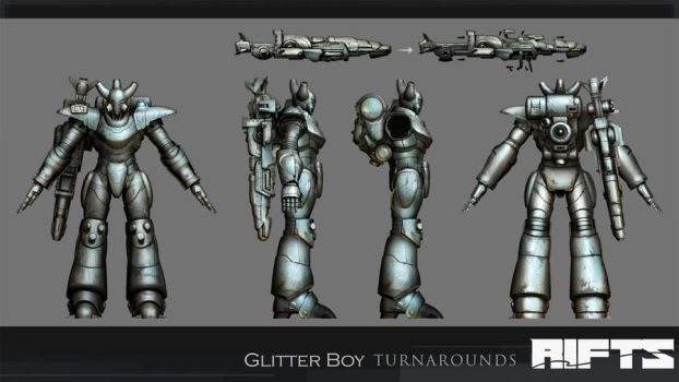 RIFTS :Glitterboy Turnaround by takaya