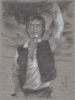 Han Solo Drawing by JeffLafferty