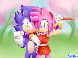 Sonic and Amy - Sonic Boom by xShadilverx