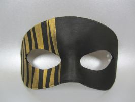 Black and Gold striped mask by maskedzone