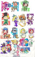Marker Chibi Madness by KD476