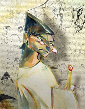 Self Caricature by andrewk