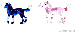 Wolf Adoptables BATCH 4 - CLOSED by Krissi2197