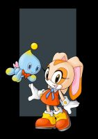 cream the rabbit and cheese the chao - commission by nightwing1975