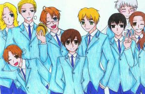Hetalia World Host Club featuring Haruhi! by JaxAugust