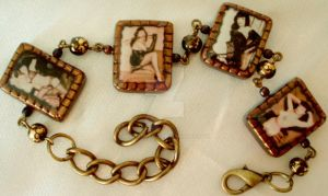 Bettie Page vintage bracelet by wickedgems